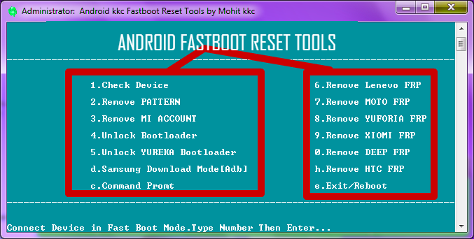 Android Fastboot Reset Tool v1 2 Free Download(Mohit KKC)